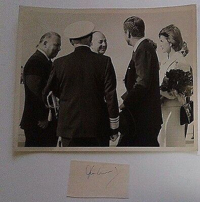 John F Kennedy Autographed Signed Cut & 8X10 Photo Owned By Kennedy With Coa