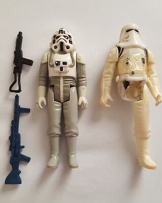 star wars 2 vintage figures with weapons