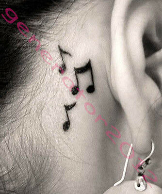 Tatouage Temporaire Tattoo Temporary note de music noir (new)