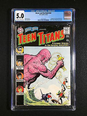 Brave and the Bold #60 (1965) - 1st app of the new Wonder Girl - Teen Titans