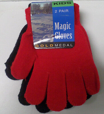 Gold Medal Brand Children's Gloves   2 Pair      One Size Fits Most