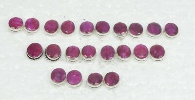 Wholesale 11Pair 925 Solid Sterling Silver Cut Natural Red Ruby Stud Earring Lot