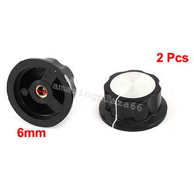 2Pcs 36mm Top Rotary Control Turning Potentiometer Knob For Hole Shaft 6mm TOP