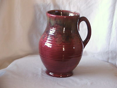 Collectable Art Deco ~ Crown Ducal Ceramic Jug With Decorative Glazes To Jug