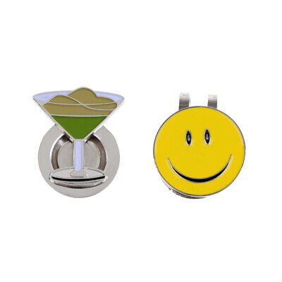 2pcs Portable Alloy Magnetic Golf Ball Marker and Hat Clip Golfer Gift