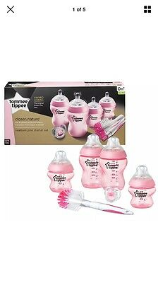 Tommee Tippee  Close To Nature Newborn Starter Kit Pink