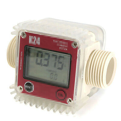 K24 LCD blue  Turbine Digital Diesel Fuel Flow Meter for Chemicals Water