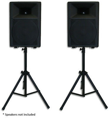 PAIR HEAVY DUTY PA SPEAKER STANDS, tripod, stage, sound