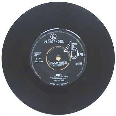 """Vgc+! The Beatles Help / I'm Down! 7"""" Vinyl 45 1965 First Issue!"""