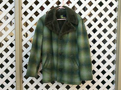 Vintage Silton California Men's Green Plaid Coat Size:42