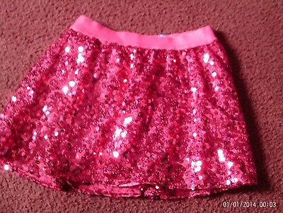 justice-- girls --size 12  cute sequined pink skort -- nwt