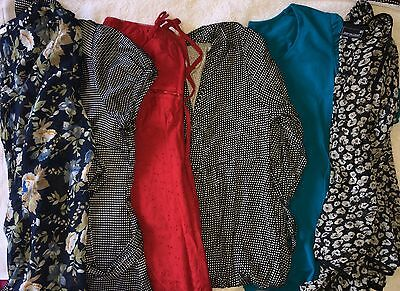 Ladies Pre-Owned 6 x Tops & Dresses Size 16. Good Condition