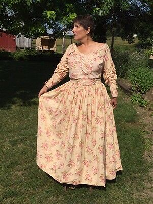 Victorian Southern Belle Dress Butterwick Pattern, Size 18-20,pink Floral