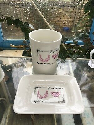 Giftware joblot china toothbrush holder, box or china soap dishes Any 5 for £20