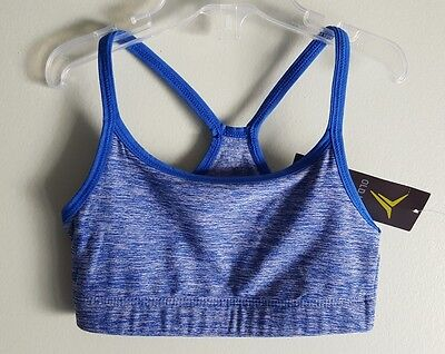 4e72aaab7a76d Old Navy Girls 6-7 Athletic Go-Dry Cami Sports Bra BLUE Gymnastics Dance