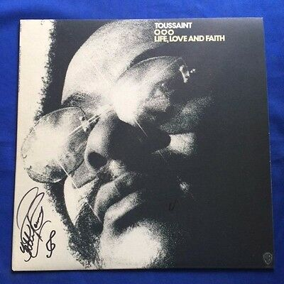 Life, Love And Faith - Autographed Lp Record By Allen Toussaint