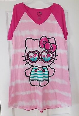 13032f3a6 HELLO KITTY SLEEP Shirt Size 2x/3x Womens Nightgown Sanrio Pajamas ...