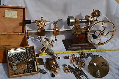 Antique Watchmakers Lathe Tools Cross Slide & Large amount accessories