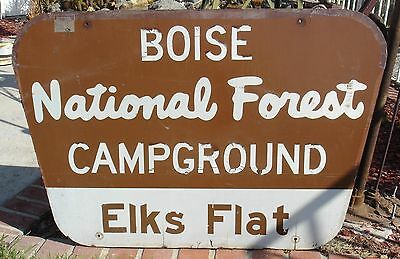 Wood Forest Service National Park Boise Idaho Campground  Sign 45 X 30 Inches