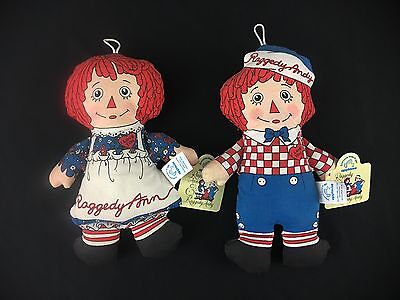 """APPLAUSE Raggedy Anne and Andy dolls, NWT, 8"""" !"""
