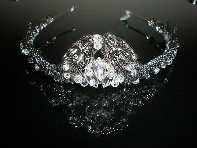 Game of thrones inspired, Medieval, bride dragon Tiara, Designer, Crystal, LARP