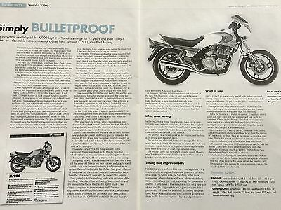 "Yamaha Xj 900 - Original 2 Page ""buying Guide"" Motorcycle Article"