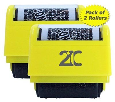 21C Identity Theft Protection Roller Stamp 2 Pack ID Security Stamp 1.5 Inch ...