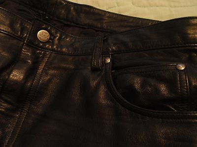 Genuine Harley Davidson Leather Pants - SUPER EXCELLENT Condition, Men's Size 38