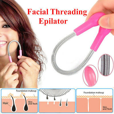 Women Face Hair Remover Tool Spring Removal Stick Facial Threading Epilator