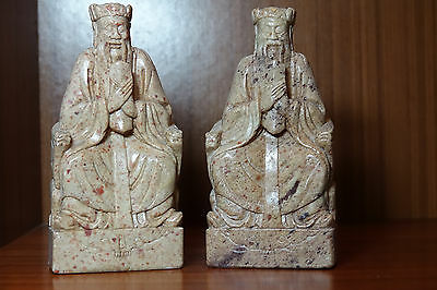 Vintage Chinese soapstone figures