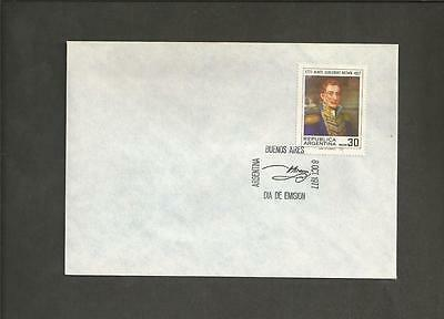 ARGENTINA -1977  100th Anniversary of the Birth of Admiral Guillermo Brown - FDC