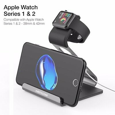 Apple Watch Stand, Phone Charging Station iWatch Cradle Night Mode Charge Holder