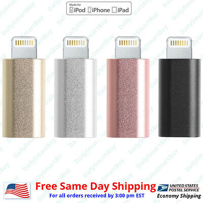 Android Micro USB to 8 Pin Lightning Adapter  for Apple iPhone 5 6 6S 7 P