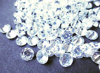10 Pieces White Clear AAA 7mm Round Brilliant Cut Cubic Zirconia CZ loose stones