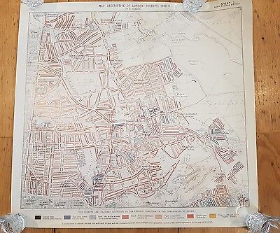 Complete Official set of 12 London poverty Booth maps - vintage