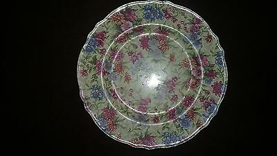 Chintz Royal Winton England Mayfair Plate Can Rd 1951 Floral
