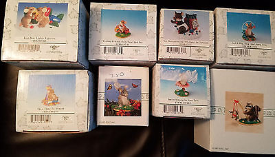 Fitz and Floyd CHARMING TAILS Lot  of 8 Figures In Box