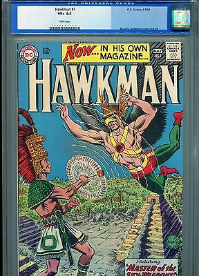 Hawkman 1 CGC 8.5 WHITE Pages 1964 Killer First Issue!!! Old Slab @@@SALE@@@@