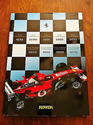 Original Ferrari Factory Yearbook Annual Book Brochure 2003