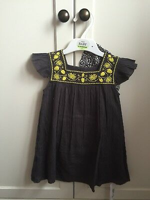 Marks And Spencer Baby Girls Dress With Hat, 12-18 Months BNWT