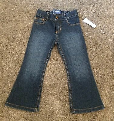 Old Navy Toddler Girls Boot Cut Denim Jeans adjustable waist Size 2T NWT