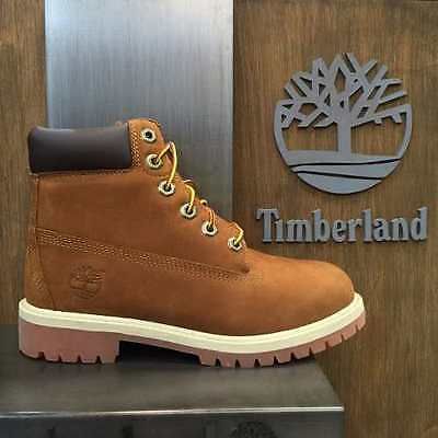 """Youth  Boys Timberland 6"""" 6 Inch Premium Boots New, Rust Brown 14949"""