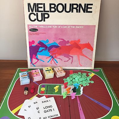 Melbourne Cup Vintage Board Game 1969 Whitman