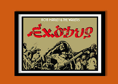 Bob Marley Poster. 1977 Exodus Promo  Large  A2 (60X40 cms) Print
