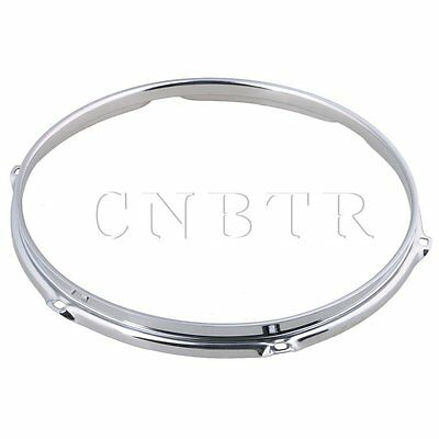 Silver 30.48x2.7cm Thick 2mm Dia 12 Inch 6 hole Steel Snare Drum Hoops