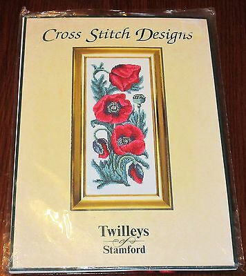 "Twilleys Stamford Counted Cross Stitch Kit "" Poppies ""  2017"