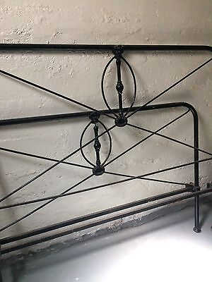 vintage black iron bed frame full/double