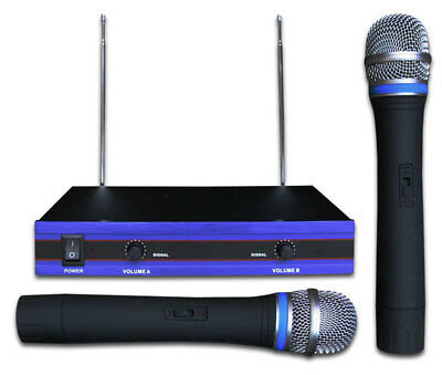 DUAL PROFESSIONAL VHF WIRELESS MICROPHONE karaoke, dj