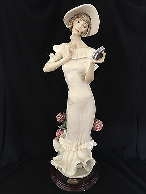"""Giuseppe Armani Reverie Porcelain Figurine w/Butterfly 17.5"""" Made in Italy"""