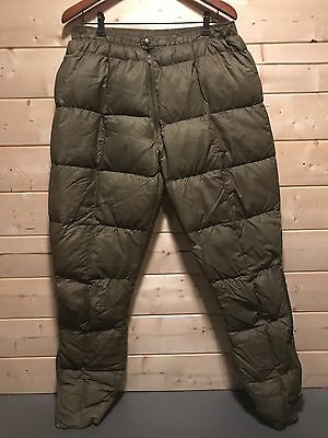 Vtg Eddie Bauer Goose Down Nylon Cold Weather Quilted Pants Usa Men's (M)
